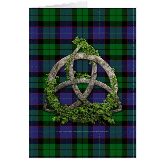 Galbraith Tartan And Celtic Trinity Knot Card