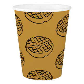 Galentines Day Breakfast Waffle Paper Cups Paper Cup