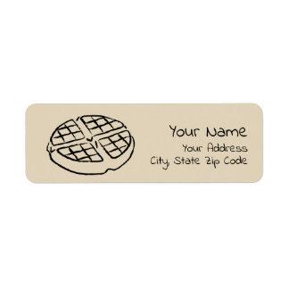 Galentine's Day Waffle Address Return Labels