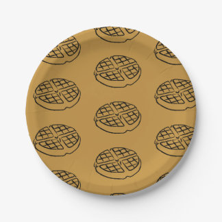 Galentines Day Waffle Paper Plates 7 Inch Paper Plate