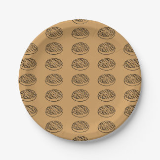 Galentine's Day Waffle Supply Paper Plate