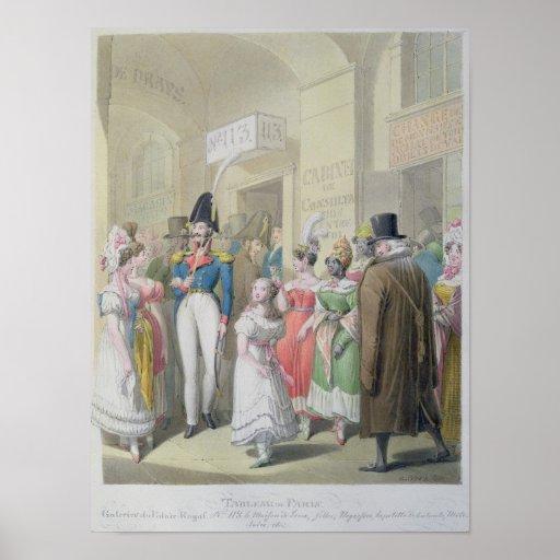 Galeries du Palais-Royal, from 'Tableau de Print