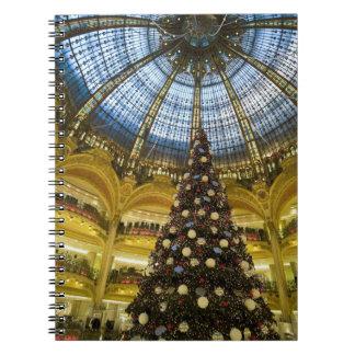 Galeries La Fayette at Christmas, Paris, France Notebooks