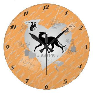Galgo heart Vintage - clock