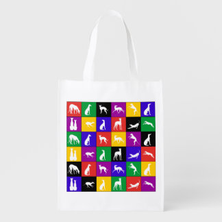 Galgo Patchwork multicolored - shopping bag Grocery Bag