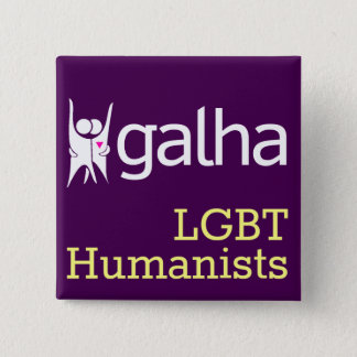 Galha LGBT Humanists square badge 2 Inch Square Button