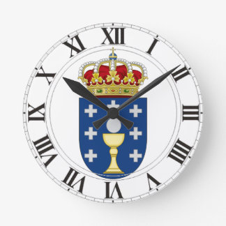 Galicia (Spain) Coat of Arms Clock