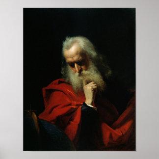 Galileo Galilei  1858 Poster