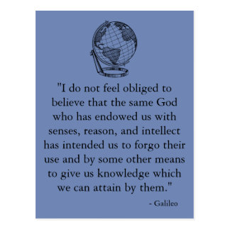 Galileo Quote Postcard