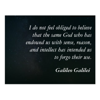 Galileo quote postcard - sense