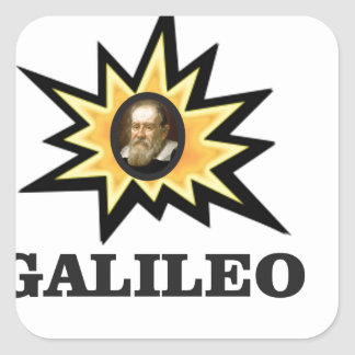 galileo sparks square sticker