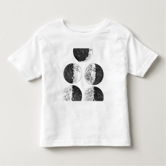 Galileo's drawings of the phases of the moon toddler t-shirt