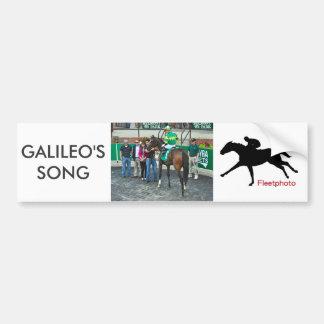 Galileo's Song Bumper Sticker