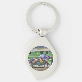 Galileo's Song Silver-Colored Swirl Keychain
