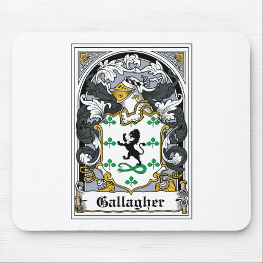 Gallagher Family Crest Mouse Mats