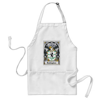 Gallagher Family Crest Standard Apron