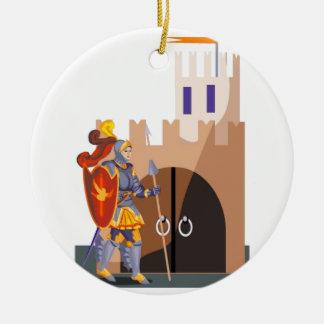 Gallant Knight Ceramic Ornament