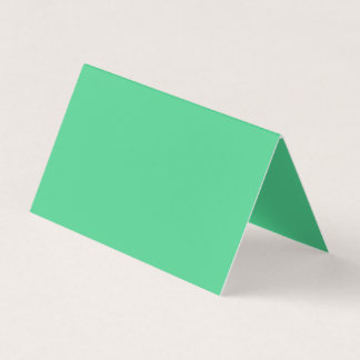 Gallantly Generous Green Colour Business Card