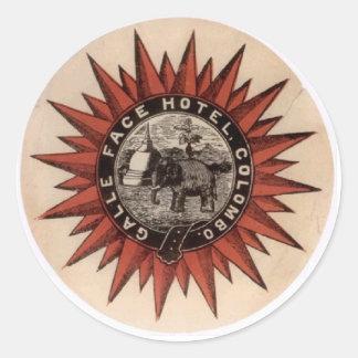 gallefacehotel round sticker