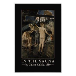 Gallen-Kallela's Sauna poster