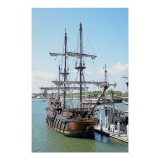 Galleon Ship Poster