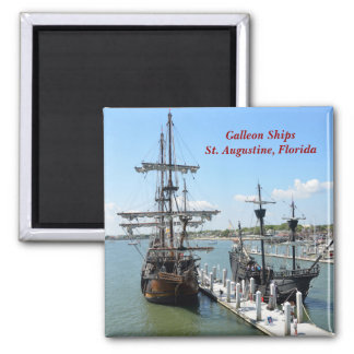Galleon Ships Refrigerator Magnets