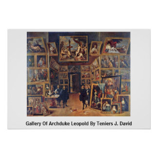 Gallery Of Archduke Leopold By Teniers J. David Poster