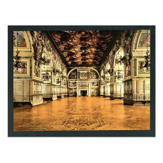 Gallery of Henry II, Fontainebleau Palace, France Postcard