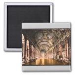 Gallery of Mirrors, Versailles, France vintage Pho Fridge Magnet