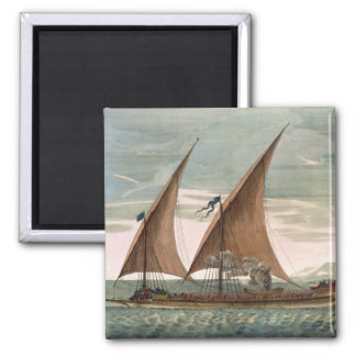 Galley under sail, flying standard of the Commande Magnet