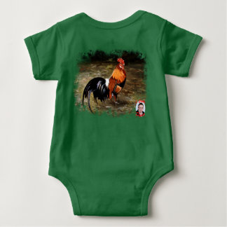 Gallic rooster//Rooster Baby Bodysuit