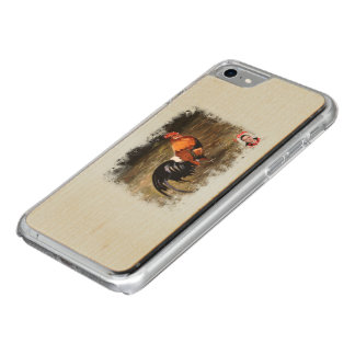 Gallic rooster//Rooster Carved iPhone 8/7 Case