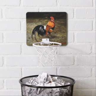 Gallic rooster//Rooster Mini Basketball Hoop