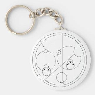 Gallifreyan I Love You Basic Round Button Keychain