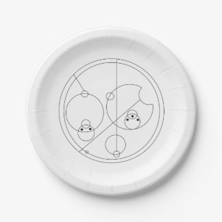 Gallifreyan I Love You Plates