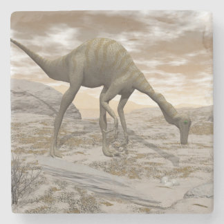 Gallimimus dinosaur - 3D render Stone Coaster