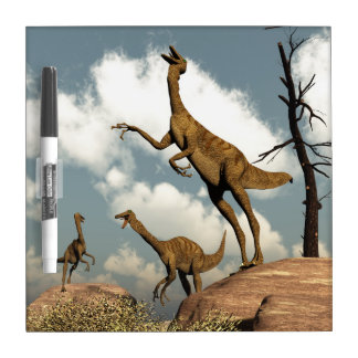 Gallimimus dinosaurs - 3D render Dry Erase Boards