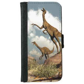 Gallimimus dinosaurs - 3D render iPhone 6 Wallet Case