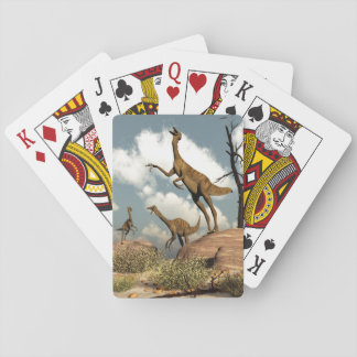 Gallimimus dinosaurs - 3D render Playing Cards