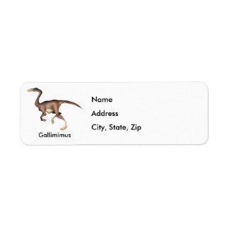 Gallimimus Return Address Label