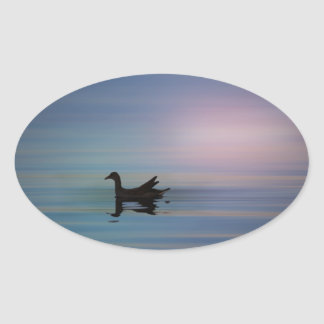 Gallinule Smooth Oval Sticker
