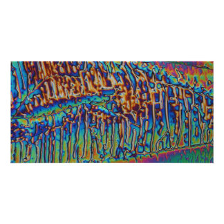 Gallium nitrate under the microscope customized photo card