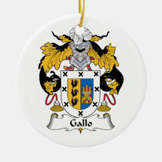 Gallo Family Crest Ceramic Ornament