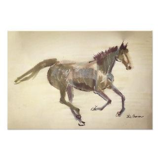 galloping abstract horse photo print