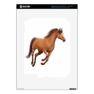 Galloping Bay Thoroughbred Horse Zazzle Skin iPad 3 Skins