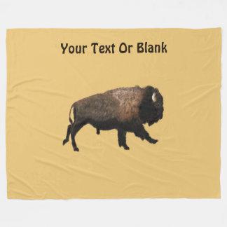Galloping Bison Fleece Blanket