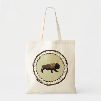 Galloping Bison Tote Bag