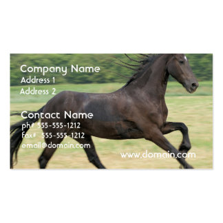 Galloping Friesian Business Cards