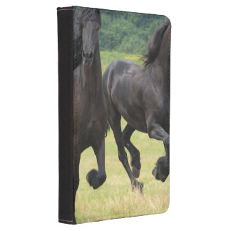 Galloping Friesian Horses Kindle 4 Case