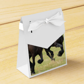 Galloping Friesian Horses Party Favor Box